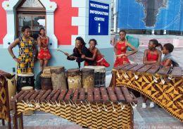 Musiker an der Waterfront in Kapstadt
