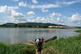 Fluss in der Zentralafrikanischen Republik