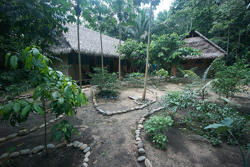 Eine Lodge in einem Nationalpark in Burundi