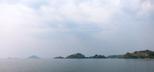 Der schöne Kivu-See in Ruanda