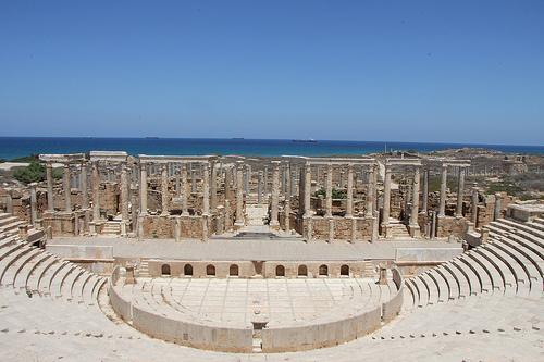 Eine der vielen historischen Stätten in Libyen