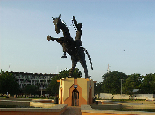 Am Rond Point de Larmee in Ndjamena