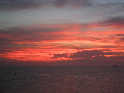 Sonnenuntergang am Roten Meer von Dschibuti