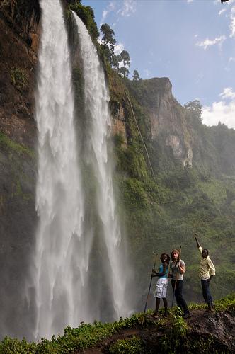 Wasserfälle bei Sipi in Uganda