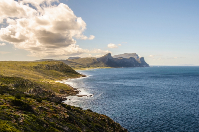 Cape Point Ausblick - Wandern in Südafrika